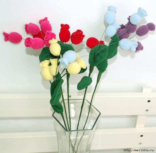 Ручная работа. Цветы из ткани (44) (609x596, 164Kb)
