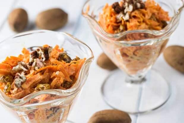 Салат из моркови с грецкими орехами: крайне полезный рецепт лёгкого овощного салата