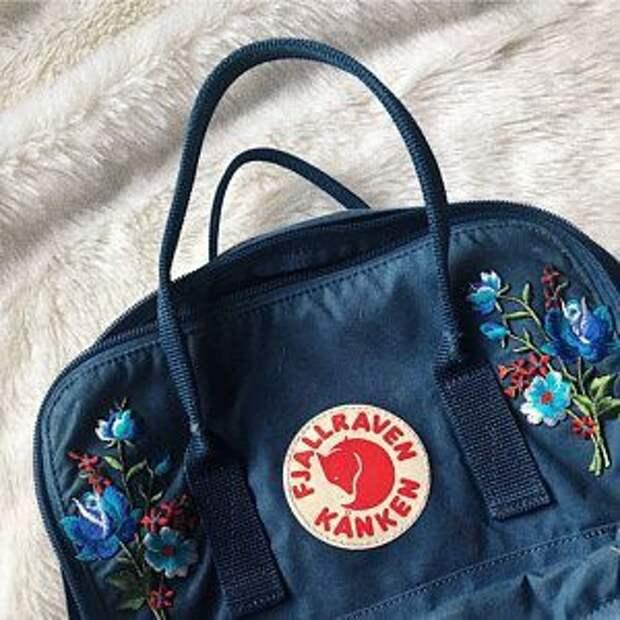Вышивки на рюкзаках Kanken