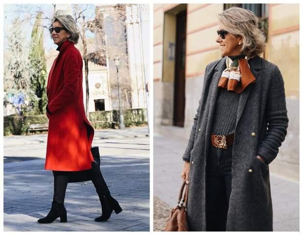 Красный с черным - очень смело и привлекательно. Серый с коричневым и оранжевым - сдержанно.