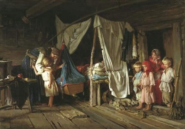 На Руси существовал целый ряд правил и традиций, связанных с родами и младенцами интересное, младенцы, ношение, обычаи, пеленание, факты