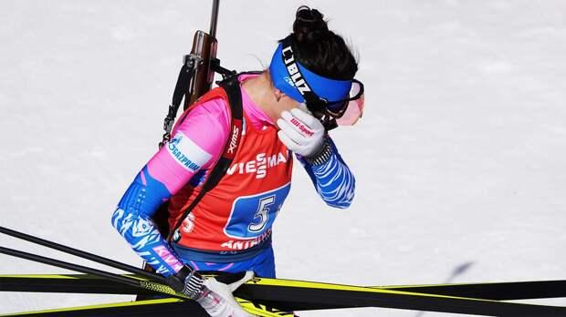 Русская биатлонистка не справилась с резервистками и лишилась медали ЧЕ