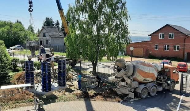 В Воткинске возводят новую колокольню в храме Георгия Победоносца