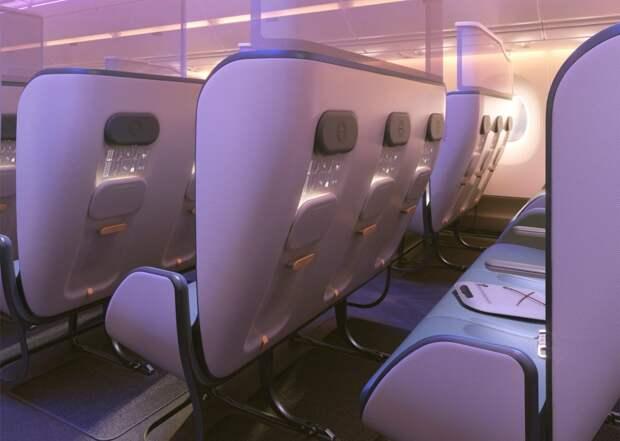 Полеты после пандемии: как могут выглядеть салоны самолета сновым защитным дизайном