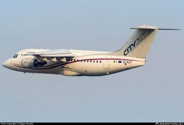 BAe Avro RJ85 авиакомпании CityJet в оригинальной ливрее