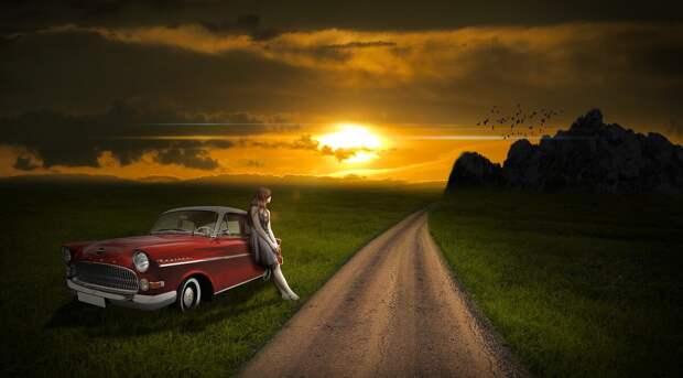 Одинока ли та женщина за рулём?