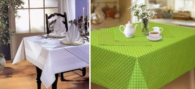 Какую выбрать скатерть на стол