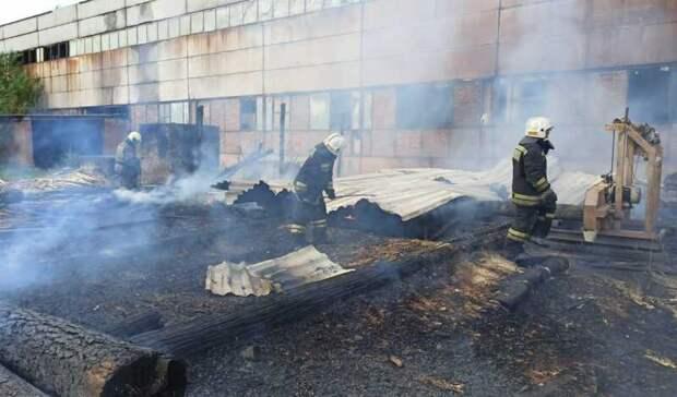 Пожар возле склада дров случился в Екатеринбурге