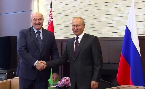 Встреча Путина с Лукашенко