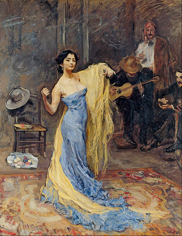 Portrait of the Dancer Marietta di Rigardo.1904. Max Slevogt.