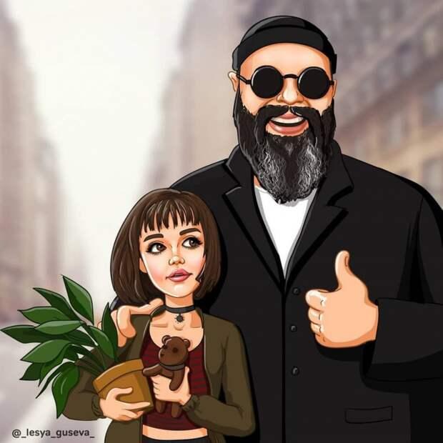 Художница превратила популярных российских личностей в героев «Союзмультфильма». И им идёт!