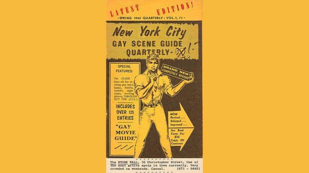 Гид по нью-йоркским местам для гомосексуалов с упоминанием «Стоунволла», 1968