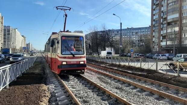 Петербуржцев предупредили о приостановке трамвайного движения по проспекту Науки