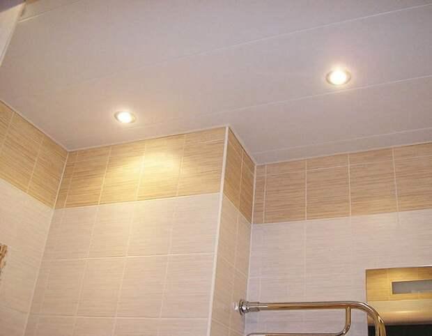 Монтаж подвесного потолка из сайдинга