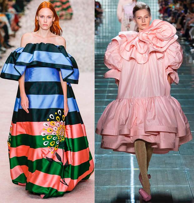 Объемные платья