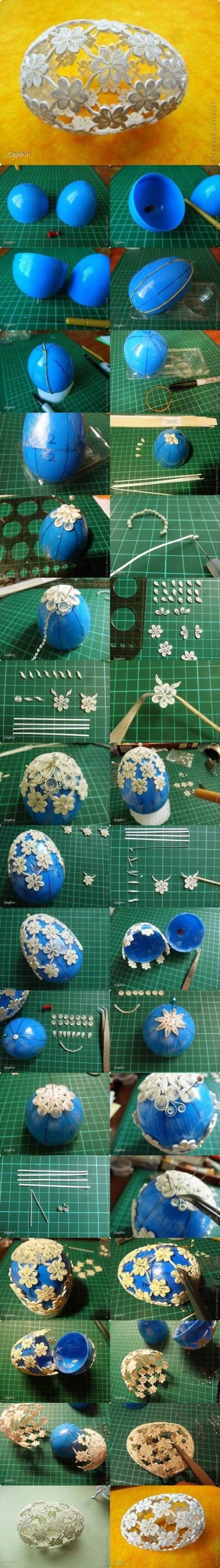 DIY peřový materiál Velikonoční vajíčko 2
