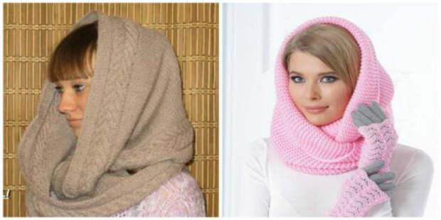Как связать оригинальный шарф-снуд спицами и крючком,  схемы и варианты узоров
