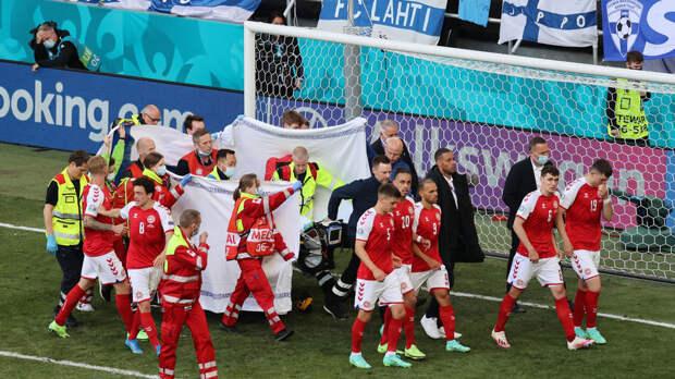 Президенты ФИФА и УЕФА пожелали здоровья футболисту Кристину Эриксену