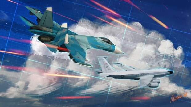 Истребители Су-27 защищают границы РФ