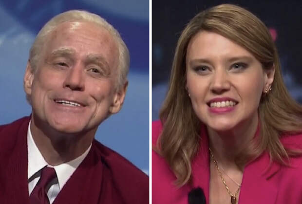 SNL: 'Badass' Savannah Guthrie Grills 'Crazy Uncle' Trump, as Biden Morphs Into Mr. Rogers During Town Hall