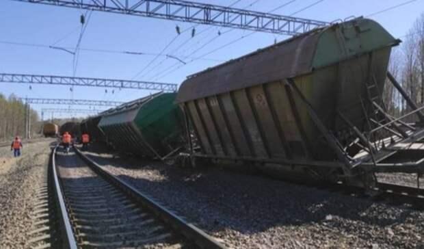 Полностью восстановлено движение поездов наместе схода вагонов вКарелии
