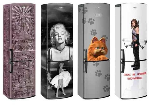 Оклейка холодильника пленкой (35 фото)