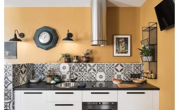 как расположить плитку на кухне
