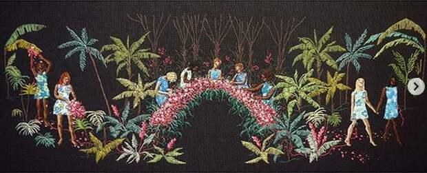Michelle Kingdom - живопись нитками