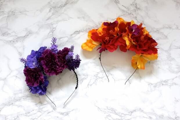 Обручи с цветами своими руками (Diy)