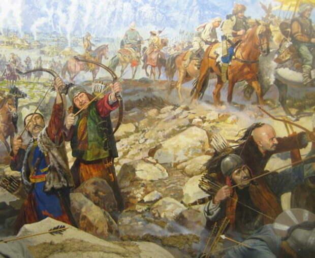 Стрелы, стрелы, стрелы. Восточный лук был гораздо мощнее простенького лука западных воинов.  Дождем стрел непрерывно поливали неуловимые конные гунны своих врагов, после чего сметали оставшихся атакой конницы.