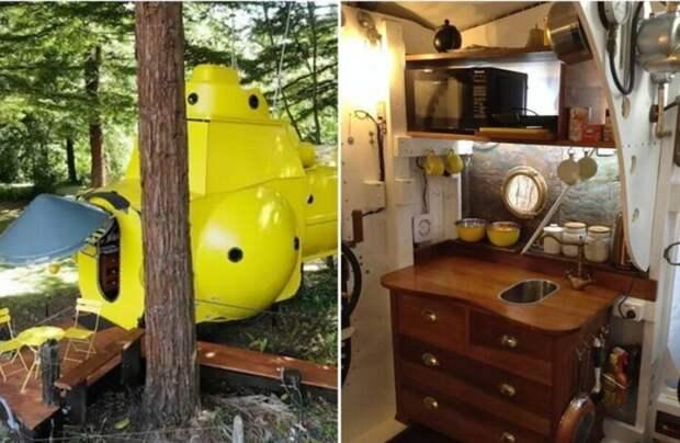 Новозеландец построил желтую подводную лодку в лесу, и у нее нет отбоя от туристов