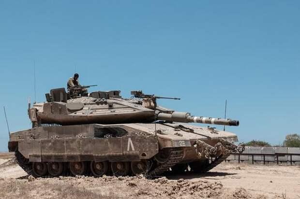 Появилось видео с места уничтожения израильского танка Merkava российским комплексом «Корнет» на вооружении ХАМАС