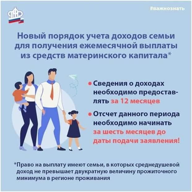 Справка о доходах для назначения ежемесячной выплаты из материнского капитала