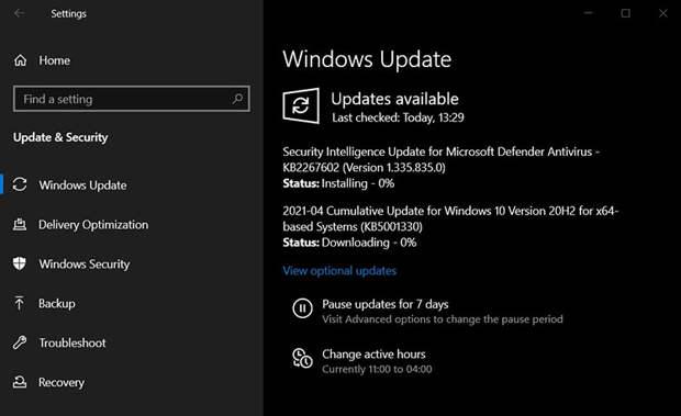 Накопительное обновление KB5001330 для Windows 10 вызвало целый ворох критических проблем