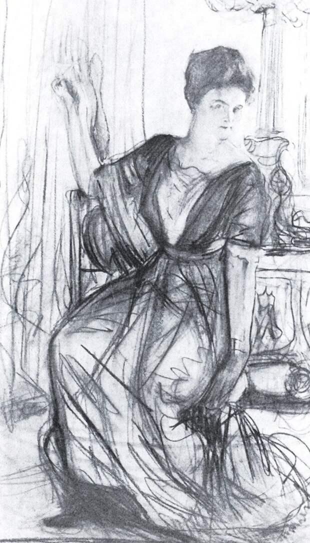 Набросок портрета Щербатовой. Серов В.А.