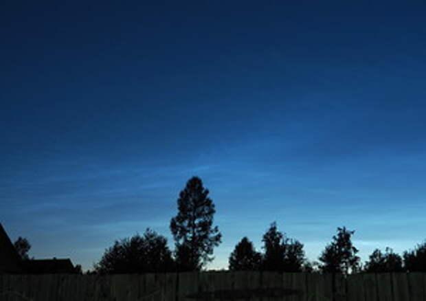 Серебристые облака, вид из Владимирской области