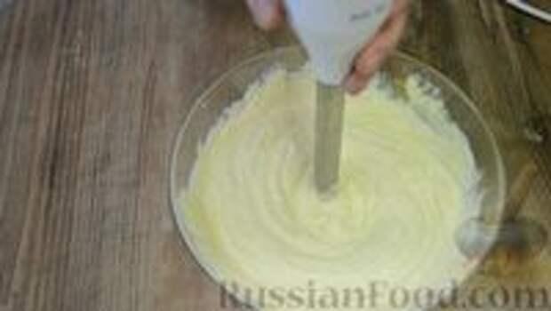 Фото приготовления рецепта: Шоколадный пирог-ватрушка с творожной начинкой - шаг №5