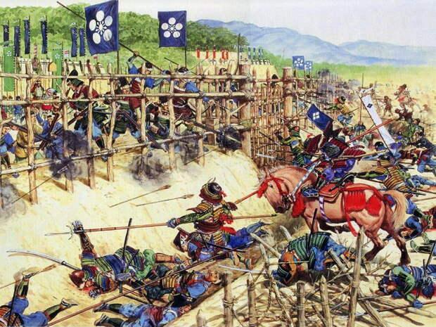 Битва при Нагасино, 1575 год (современная иллюстрация) http://www.militar.org.ua - Легконогие в тени самураев | Военно-исторический портал Warspot.ru