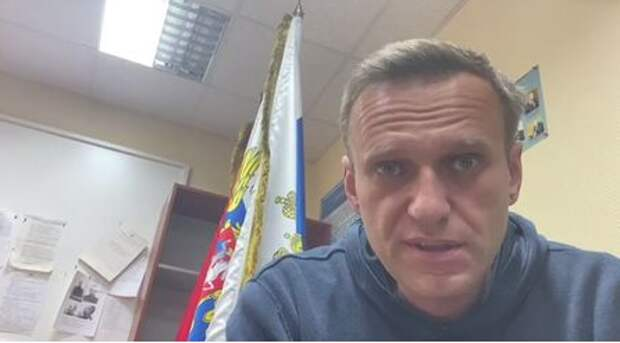 Russian opposition leader Alexei Navalny speaks as he waits for a court hearing in a police station in Khimki outside Moscow, Russia January 18, 2021, in this still image from video obtained from social media. Courtesy of Instagram @NAVALNY/Social Media via REUTERS ATTENTION EDITORS - THIS IMAGE HAS BEEN SUPPLIED BY A THIRD PARTY. MANDATORY CREDIT INSTAGRAM @NAVALNY. NO RESALES. NO ARCHIVES.