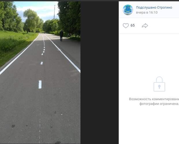 Кривые велодорожки в парке «Москворецкий» возмутили жителей района