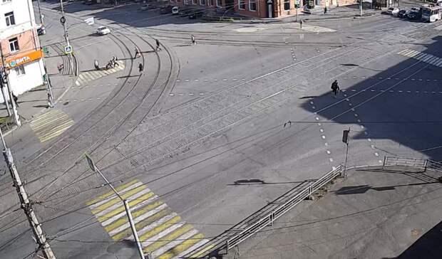 Второй диагональный пешеходный переход появился вТагиле наЦиолковского-Мира