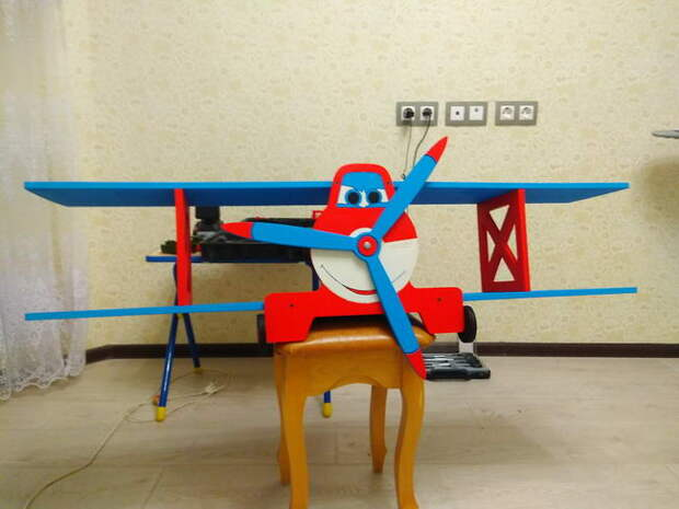 Полка-самолет своими руками в детскую