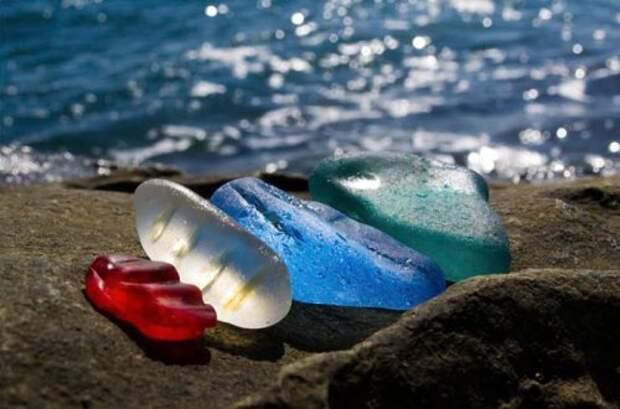 Пляж бухты Стеклянной в Уссурийском заливе (8 фото)