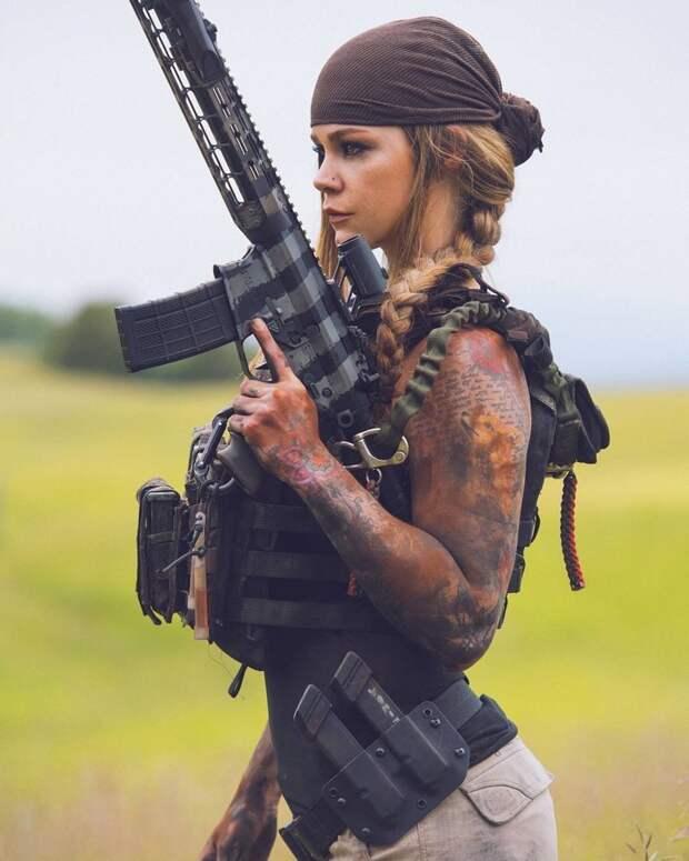 Как выглядели бы амазонки, если бы появились в наше время амазонки, девушки, оружие, фотография
