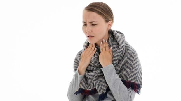 Першение в горле может указывать на заболевание щитовидной железы