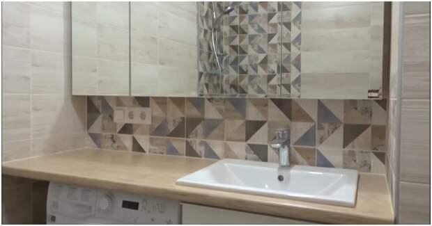 Кухонная столешница в ванной комнате: а почему бы и нет?