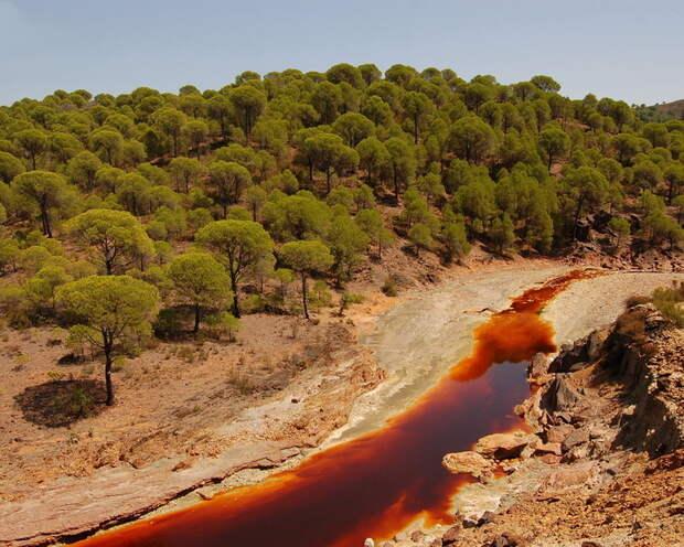 Необычная испанская река: почему вода в Рио-Тинто такого красного цвета