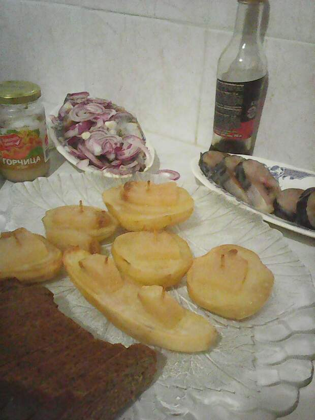 Рецепт запечённой картошечки на сале.