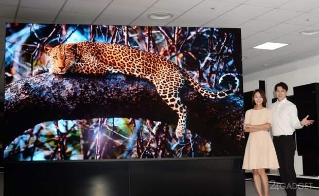 LG представил самый большой телевизор с диагональю 163 дюйма, технологией MicroLED и 4K