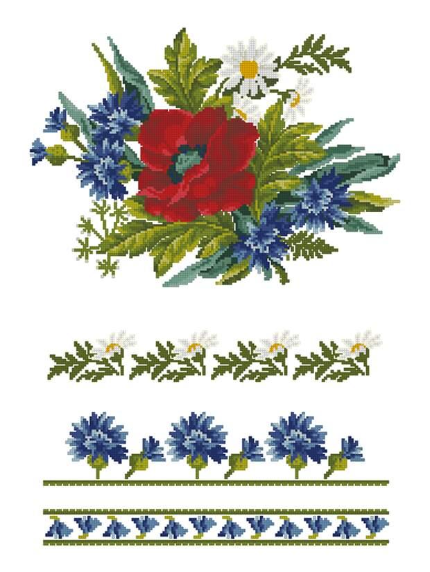 Рушник с цветами